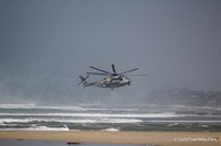 The next day, during a late beach walk, a Super Stallion Marine helicopter made an emergency landing on Solana Beach ahead ov me.