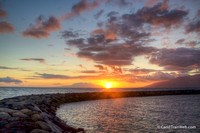Kihei Boat Harbor sea wall and sunset 6/4/2015