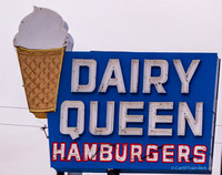 Classic DQ sign in Holbrook, Arizona