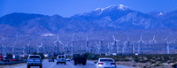 San Gorgonio Mountain, the highest peak in Southern California and the Transverse Ranges at 11,503 feet, from I-10 westbound.