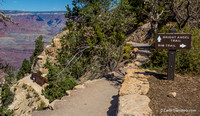 Needless to say, I took the Rim Trail, Bright Angel Trail leads down on the left.