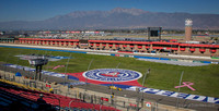 I moved higher, over the fence for an overall shot of the Fontana AAA Speedway.
