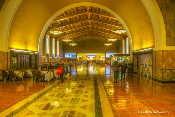Los Angeles Union Station's grand hall.