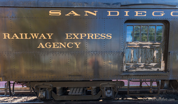 "I wanted just the paint-pealing door, but though I should include ""Railway Express Agency"" for old time sake."