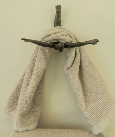 Unique towel rack.