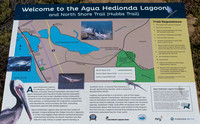 Today's walk is to Aguia Hedionda Lagoon.