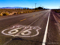Exiting I-40 at Newberry Springs, CA and heading east on old Route 66, you will see this.  After the photo, continue east to the next entrance back onto I-40
