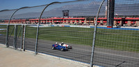 My view from the lowest seats, closest to the track, but through the fence.