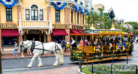 Horse-drawn street car at Town Square.