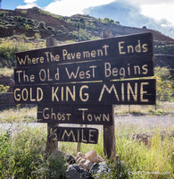 One mile north of Jerome is the Gold King Mine - a truck junkyard.