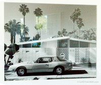 Original Modernism example from Palm Springs in the 1960s with an Avanti in front.